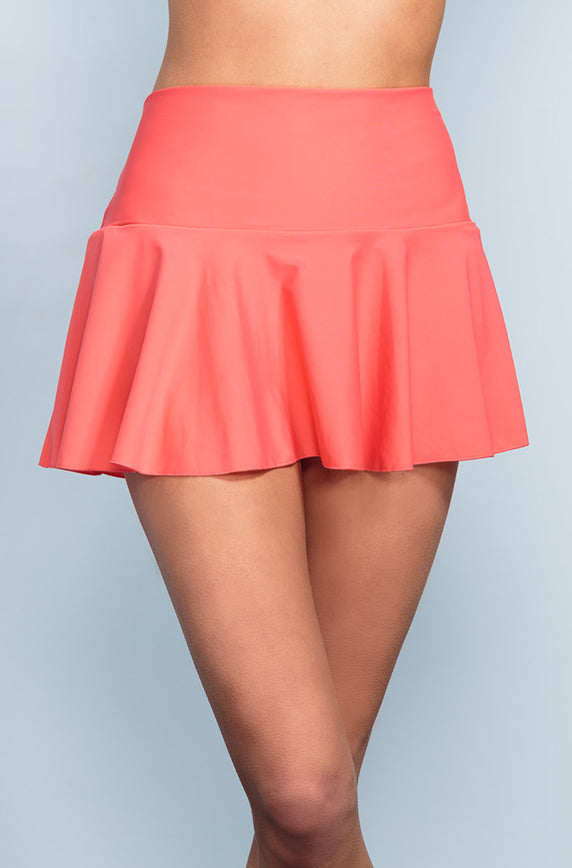 Ruffle Skirt - Sunrise Coral - DM Fashion