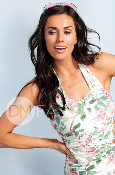 Shirred Halter - Dahlila Rose - DM Fashion
