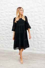 Eleanor Black Lace Dress