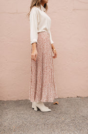 Dusty Rose Born To Be Wild Pleated Leopard Maxi Skirt - Restocked - FINAL FEW