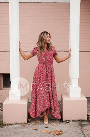 Verona Red Floral Button Down Maxi - DM Exclusive - Nursing Friendly - Restocked