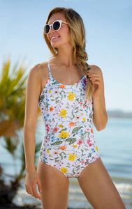Lace Up One Piece - Sunny May Floral - DM Fashion