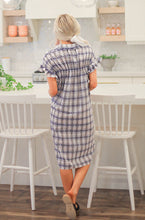 Loretta - Plaid Tunic Shirt Dress