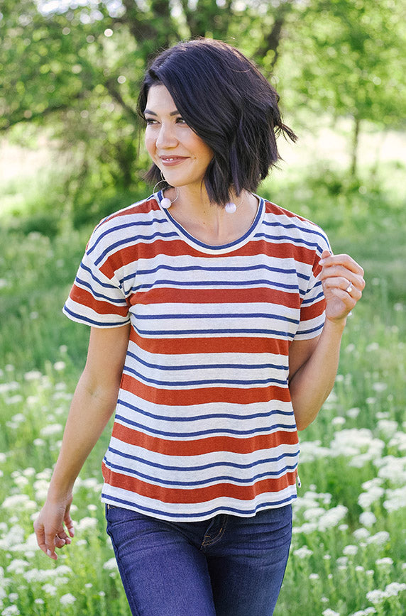 Jukebox Hero Stripe Top - FINAL SALE