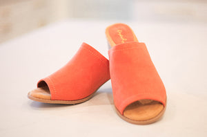 Doria Coral One Band Suede Slide