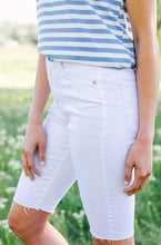 Sunny Days Ahead Frayed Bermuda's in White - FINAL SALE
