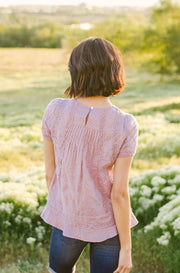 Daylight Purple Embroidery Eyelet Top - FINAL FEW