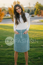 PARK PLACE - Sage Corduroy Skirt - DM Exclusive