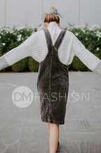 MANHATTAN - Charcoal Corduroy Jumper - DM EXCLUSIVE - DM Fashion