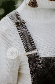 Manhattan Charcoal Corduroy Jumper - DM Exclusive - Restocked