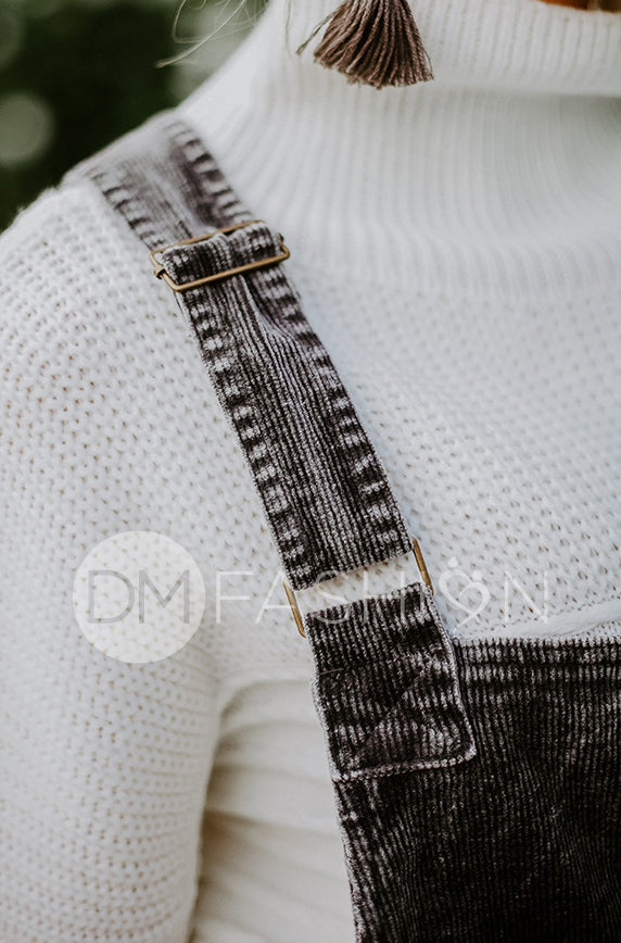 Manhattan Charcoal Corduroy Jumper - DM Exclusive - FINAL SALE