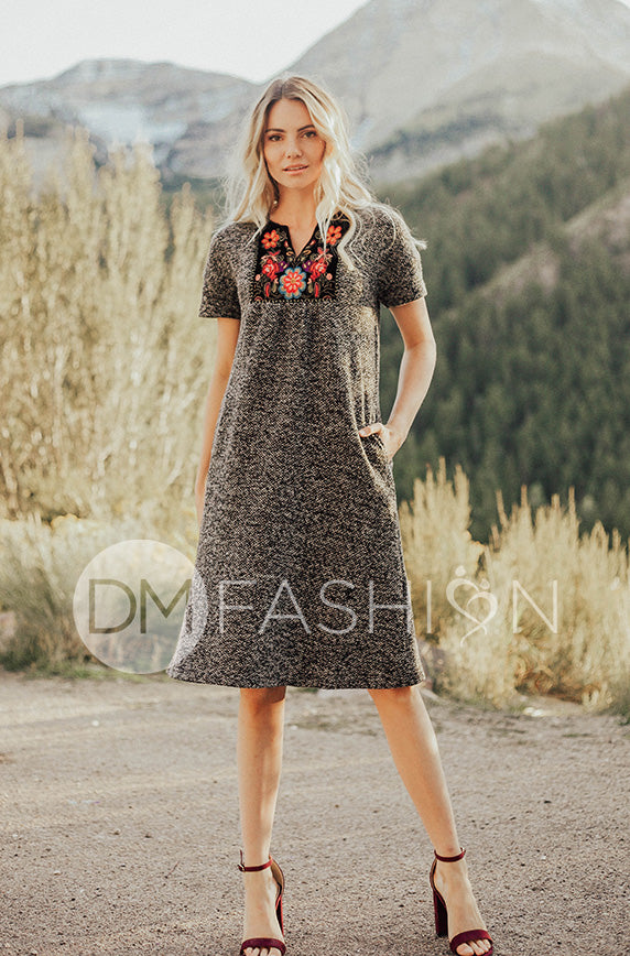 Montreal Embroidered Dress - DM Exclusive