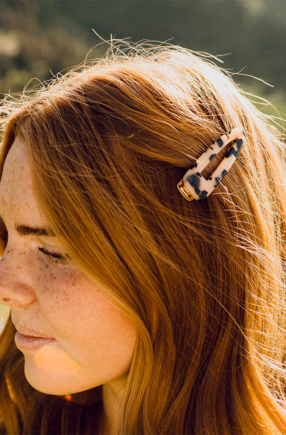 Gold Light Tortoise Hair Clip - FINAL SALE
