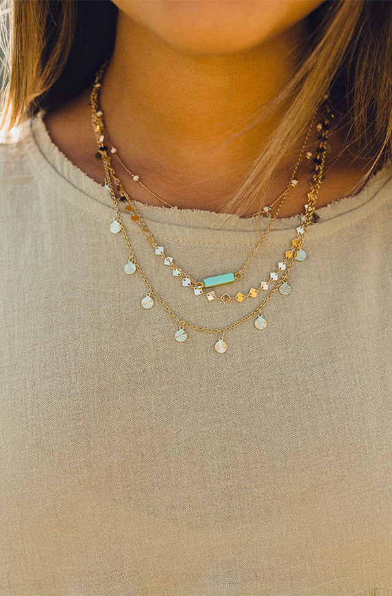 Gold 3 Layer Mix Chain Necklace - FINAL SALE