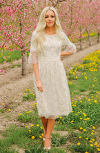 Emilia - Embroidery Lace Midi Dress - FINAL SALE