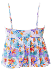 V Peplum Tankini - Palm Floral - FINAL SALE - DM Fashion