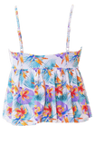 V Peplum Tankini - Palm Floral - DM Fashion