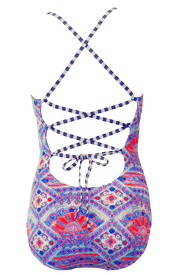 Lace Up One Piece - Tribal - FINAL SALE - DM Fashion