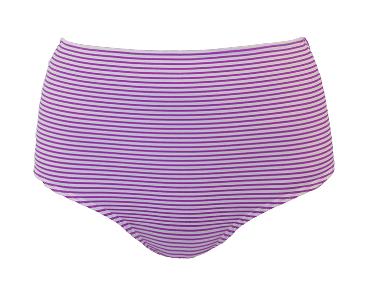 High Waisted - Purple Stripe - DM Fashion