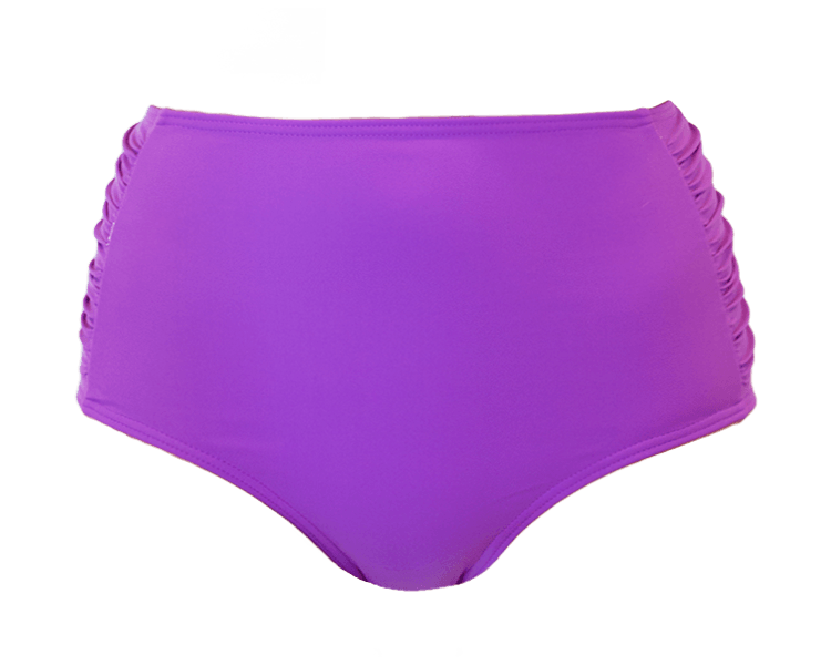 Ruched High Waisted - Purple