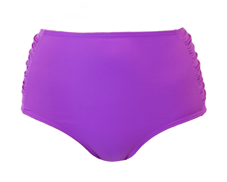 Ruched High Waisted - Purple - DM Fashion
