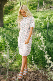 Sophie -  Daisy Embroidery Floral Dress - DM Exclusive - FINAL SALE