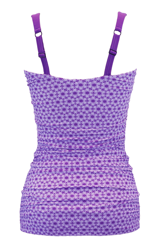 Ruched Bandeau - Purple Daisy Chain - DM Fashion