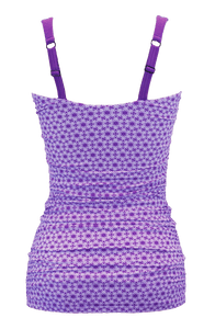 Ruched Bandeau - Purple Daisy Chain - FINAL SALE - DM Fashion