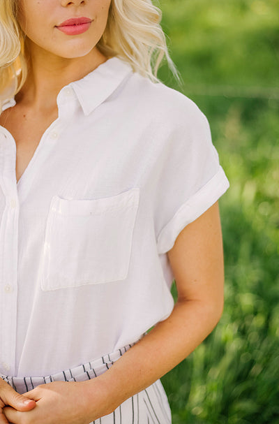Sloan Off White Button Up - Nursing Friendly - FINAL SALE