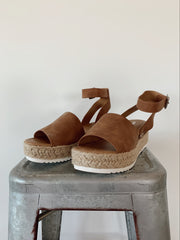 Daniella Cognac Brown Platforms - FINAL FEW