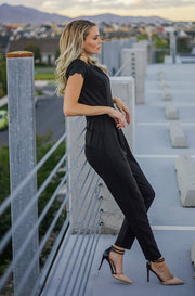 New York City Black Scalloped Jumpsuit - DM Exclusive - FINAL SALE