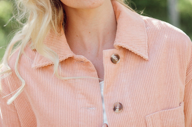Timeless Pink Corduroy Flare Jacket - FINAL SALE