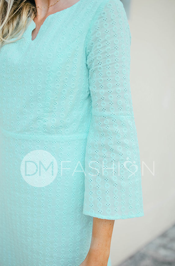 Emilee Blue Eyelet Midi - DM Exclusive - FINAL SALE