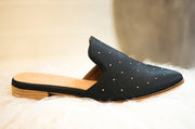 Gaze Black Studded Mule - FINAL SALE