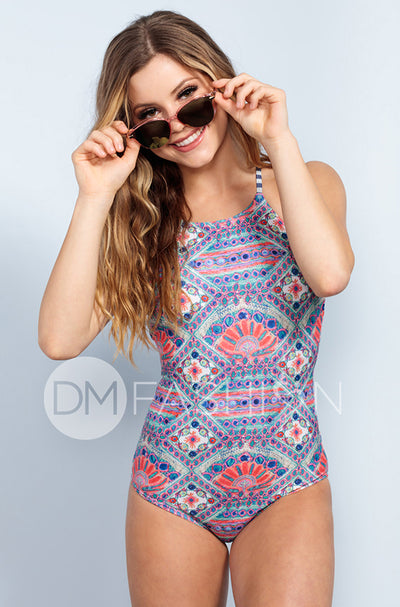 Sailor Back One Piece - Tribal - DM Fashion