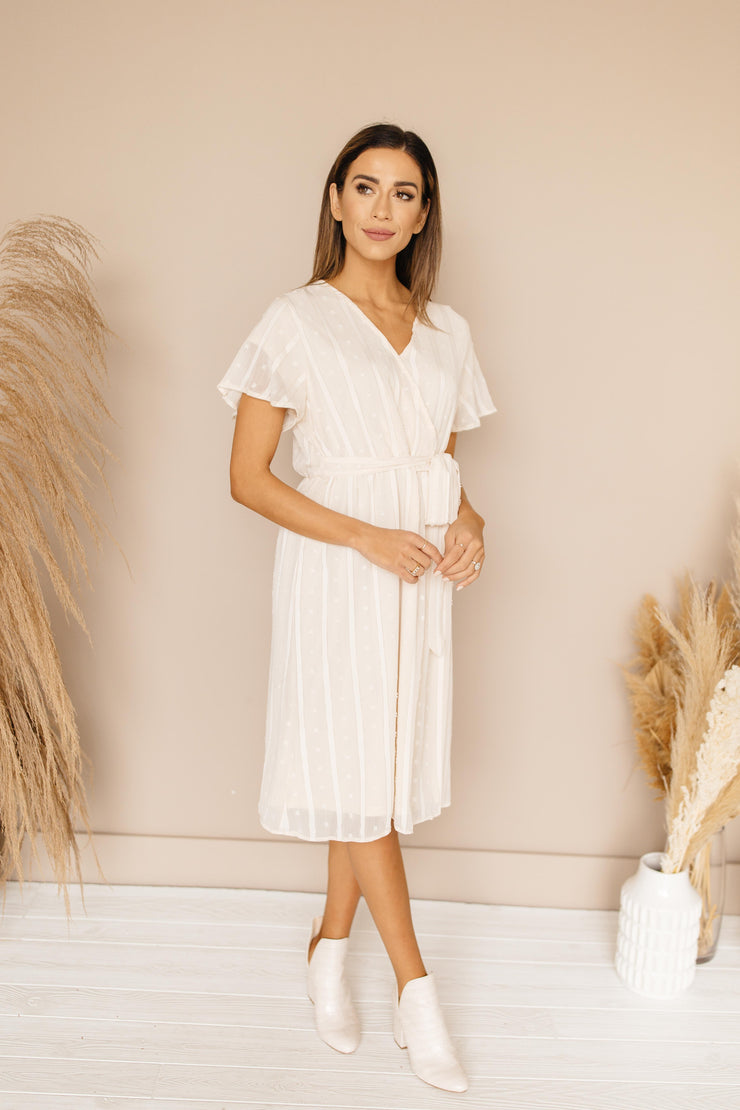 Jessie Cream Midi Dress
