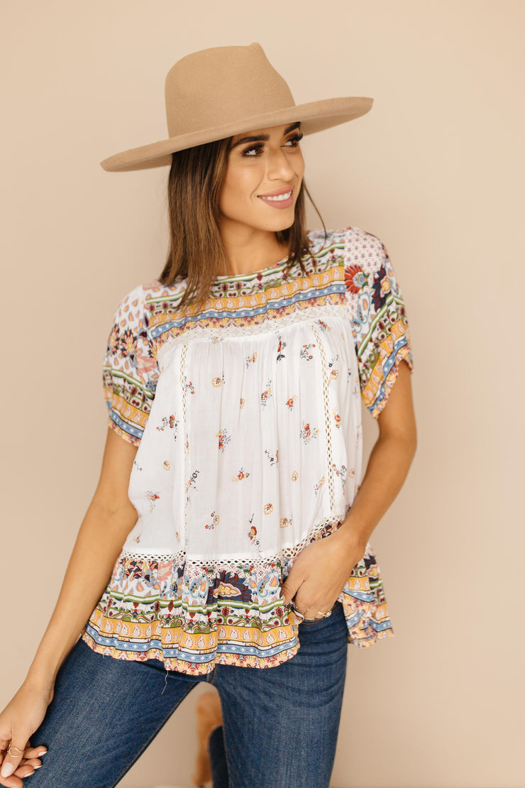 Blossoming Babydoll Top