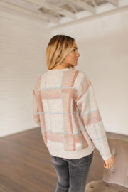 Smitten Check Pattern Sweater