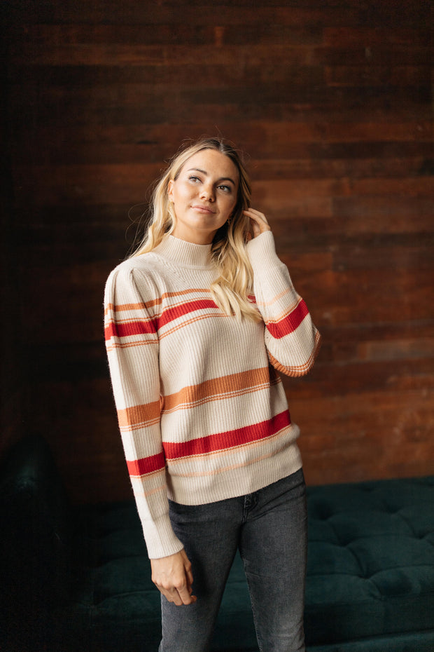 Winter Daze Red Cream Sweater
