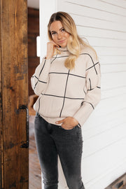 Off The Grid Cream Pattern Pullover