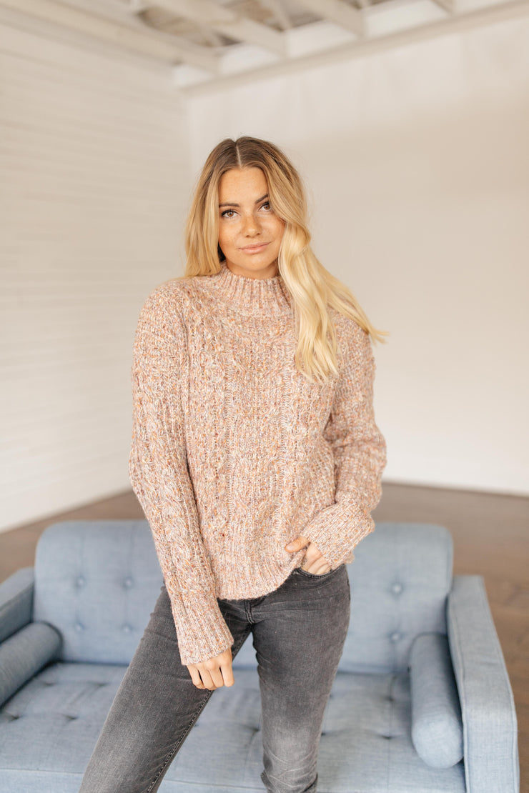 Slow Fade Blush Speckled Sweater - FINAL FEW