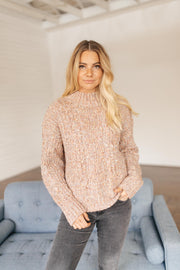 Slow Fade Blush Speckled Sweater
