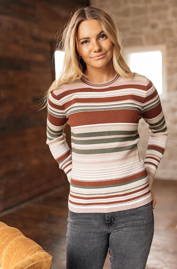 Fine Lines Ribbed Top