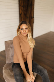 Sweet Talk Cognac Brown Turtleneck