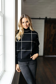 Off The Grid Black Pattern Pullover