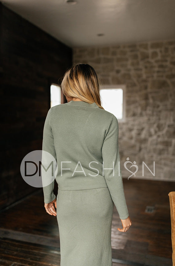 Zoë Moss Green Sweater Set - DM Exclusive