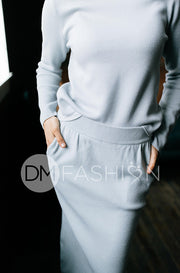 Zoë Ash Blue Sweater Set - DM Exclusive