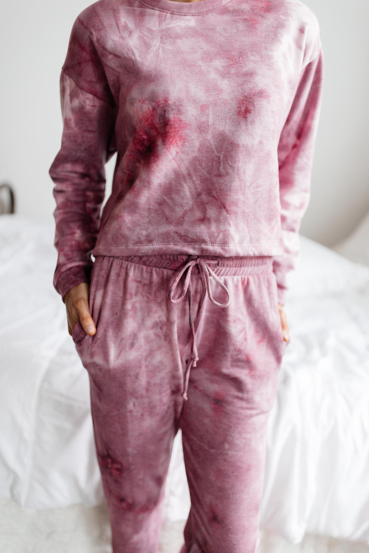 Electric Love Pink Plum Tie Dye Set
