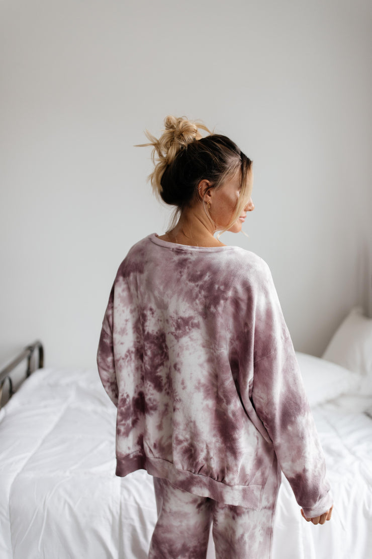 Simple Things Mauve Tie Dye Set