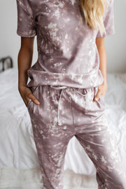 Love Myself Mauve Tie Dye Set